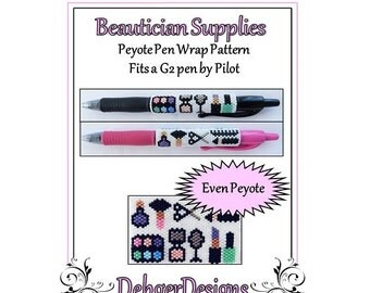 Bead Pattern Peyote(Pen Wrap/Cover)-Beautician Supplies