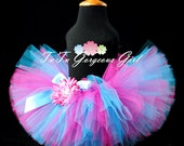 Teen Adult Women's Hot Pink and Turquoise Tutu...Racing Tutu, Fun Run Tutu, Women's Birthday Tutu. . . SUDDENLY SASSY