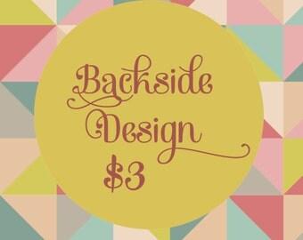 Coordinating Back-side Design