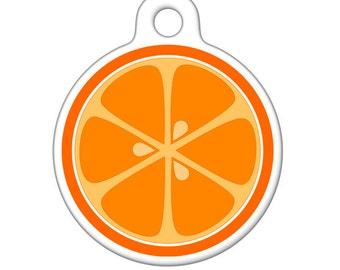 Pet ID Tag - Orange Slice Pet Tag, Cat Tag, Bag Tag, Child ID Tag