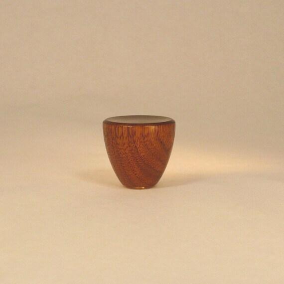 Wood Lamp Finial Black Walnut Cup Pattern 3 1 4 Tall X