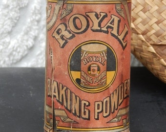LABOR DAY SALE Vintage / Antique Sealed Royal Baking Powder Tin