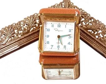 Ingram Luminous Travel Alarm Clock, Wind Up Clock, Made in Japan, Portable Timepiece