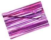 Business Card Holder - Purple Berry Plum Lines (LIMITED EDITION)