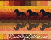 Horses at Sunset Quilt ePattern, 5000-2, horse quilt pattern, horse wall quilt, horse wall hanging