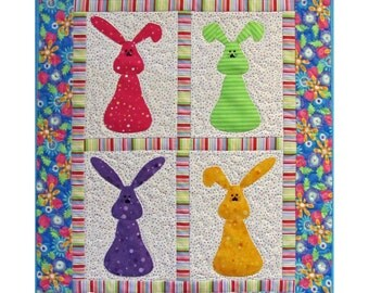 Bunny Quilt, 4603-0, Children's wall quilt, children's wall hanging
