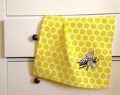 Honeycomb Sunshine Yellow Kitchen Towel...Save the Bees
