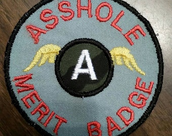 Asshole patch,merit badge