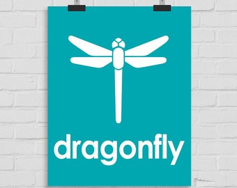 Dragonfly Wall Art, Nursery Wall Art, Dragonfly Print, Kids Wall Art, Playroom Art, Childrens Art, Modern Nursery Print, Printable Art