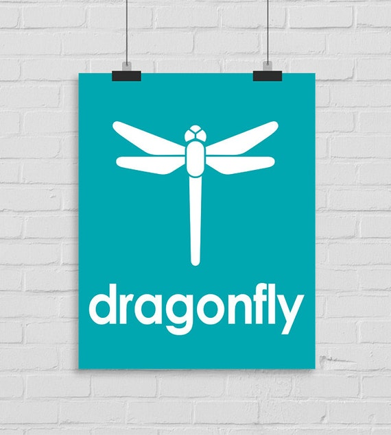 Dragonfly Nursery Wall Decor : Dragonfly wall art nursery print kids