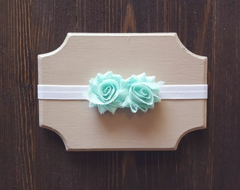 Girls Mint Headband, Newborn Headband, Baby Headband, Mint Headband, Newborn Headband Mint, Toddler Headband Mint, Mint Baby Headband