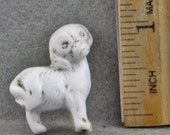 Antique Excavated German Miniature Porcelain Dog Figure Oscarcrow