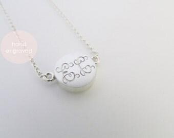 double initial necklace double monogram necklace monogram pendant initial pendant
