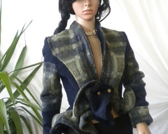 Unique and beautiful ladies short coat made of cashmere