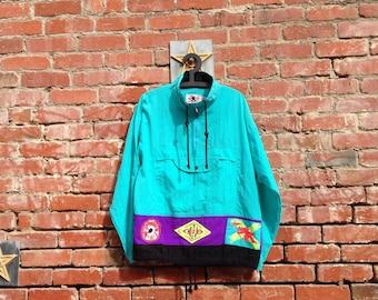 Rare Vintage Gotcha Neon 90s Windbreaker M L XL