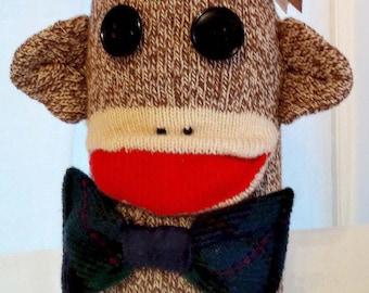 Sock Monkey Wine Sleeve/Wine Cozy