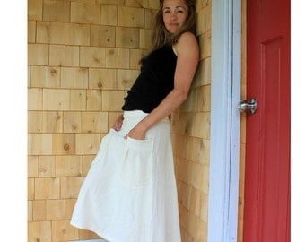 Patch pockets Hemp/cotton jersey skirt