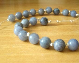 Blue Aventurine Meditation Chain, 27 Beads, Quarter Mala, Prayer Beads, Counting Breaths, Worry Beads / Meditating Tool / Throat Chakra