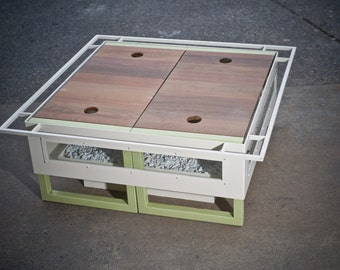 Convertable Firepit - Table and Benches - in one unit