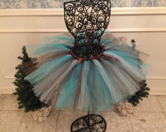 Turquoise & Brown Tutu - Western - Country - Wedding
