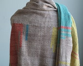 Tribal Roots Handwoven Everyday Shawl - Fiber Art Scarf or Blanket