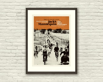 MID CENTURY MODERN Bicycle - Jack's Mannequin 18 x 24 Art Print Concert Poster, Lithograph, Nursery, Hipster, Vintage Style