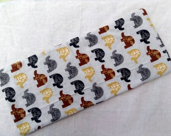 Elephant burp Cloth