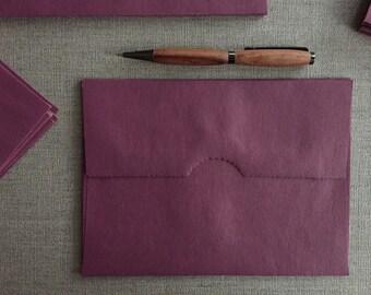 SALE!  Kraft Envelopes - Cranberry tinted Brown Kraft