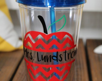 Personalized Teacher Tumbler- teacher gift back to school/end of school/holiday gift/acrylic