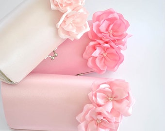Pale Pink / Pink / Candy Pink - Bridesmaid Clutch / Bridal clutch - Choose the color you like