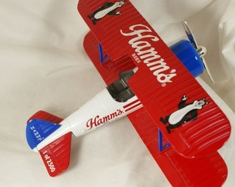 Hamm's Beer Limited edition biplane One of 2500 liberty Classics