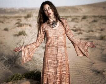 Khadi Cotton Long Sleeves Fairy Dress ~