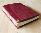 Purple Heart Wood Guest Book Wedding Guestbook or Journal Cabin Guest Book memorial Unique anniversary gift custom book lover ready to ship