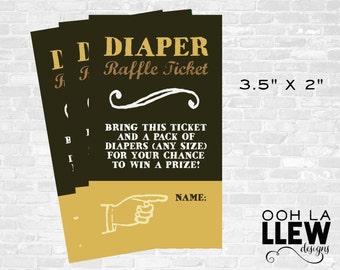 Baby Shower Diaper Raffle Ticket