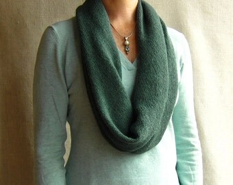 4-way knit wrap infinity scarf cowl snood in teal