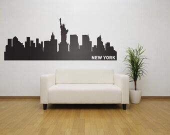 New York City Skyline Wall Decal - NYC Urban Wall Sticker