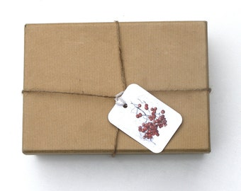 Gift Tags - Set of 4 Rowan Berry Gift Tags