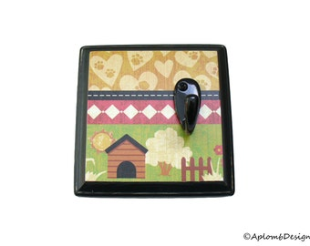 Mini, Leash Holder, Key Hook, Dog Lover Gift, Lead Holder, Dog House, Puppy Gift