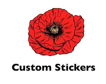 50 Custom Stickers Cut To Shape