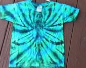 Tie dye Spider youth tee shirt