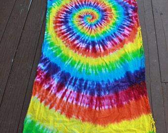 Tie dye Tablerunner or curtain upcycled