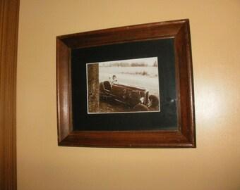 Vintage Race Car Photo, Stock car, Antique, Race Car, Black and White photo, Cars