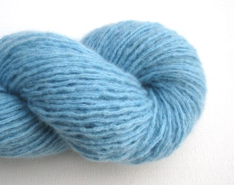 DK or Light Worsted Weight Cashmere Recycled Yarn, Light Blue, Lot 110816