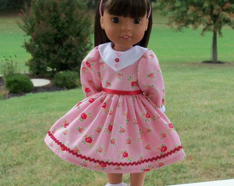 """Wellie Wishers Sweetheart Dress and Shoes / Doll Clothes for  Wellie Wishers by American Girl or other 13-14""""  Dolls"""