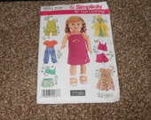 Sewing Pattern Simplicity 18 inch Doll Clothing - Doll Clothes - Un-Cut