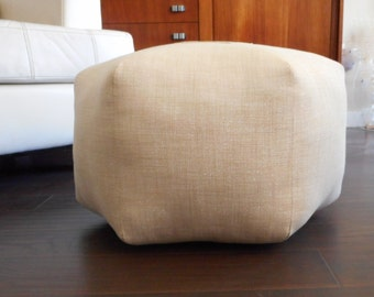 Metallic pouf / silver pouf / Floor pillow / metallic floor pouf / foot stool / Moroccan pouf / Floor cushion - Metallic Silver ottoman