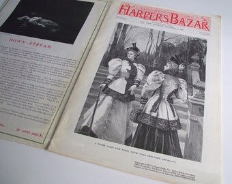 Harper's Bazar 1894 Magazine | Magazine Replica Reprinted in 1971 by Digest Books | Christmas Nostalgia | Coffee Table Book Holiday Decor