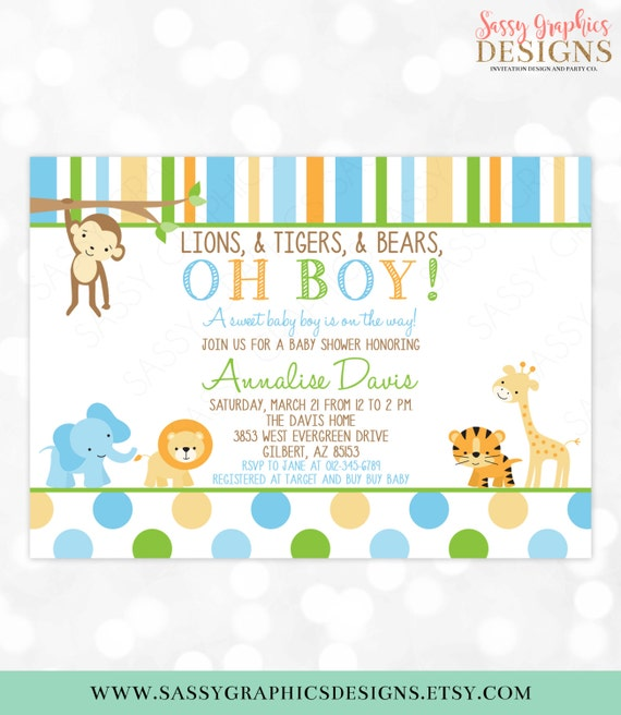Safari baby shower invitation jungle invitations wild baby shower il570xn filmwisefo