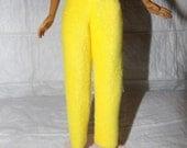 Fashion Doll Coordinates - Solid yellow Fleece pants - es399
