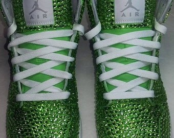 Custom Nike Shoes, Nike Swarovski, Rhinestone Nike, Nike, Trisha Paytas Nike Shoes, Nike Crystal Shoes